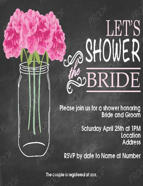 Bridal Shower Invitation - Country Casual