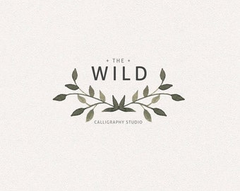 Black Logo | Wild | Logo Design, Graphic Design, Custom Logo, Photography Logo, Logo for Small Business, Boutique Logo