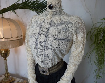Gibson Girl Blouse of Irish Crochet, ca. 1901