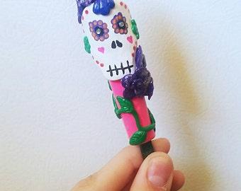 Sugar Skull Inspired Crochet Hook