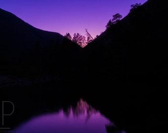 Nautical Twilight, Fine Art, Landscape, Night Photography, Luster Print