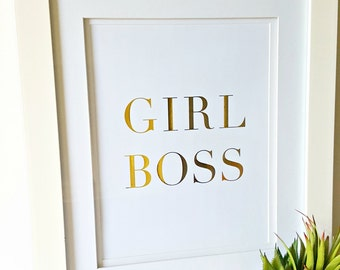Personalized Gold Foil Print, Personalized Gift, Inspirational Quote, Gift for Her, Boss' Day
