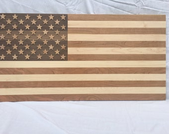American Flag (Walnut, Maple, Cherry)
