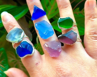 OCEAN TREASURES ~ Seaglass Rings