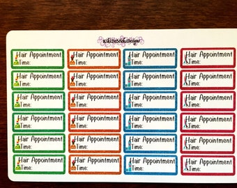 Hair Appointment Planner Sticker 01