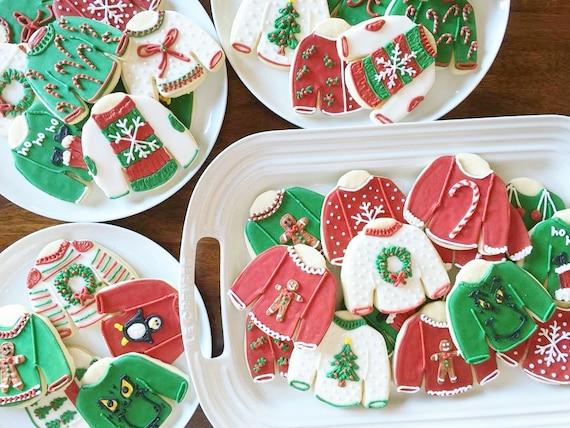 Ugly Sweater Cookies. Bakers Dozen