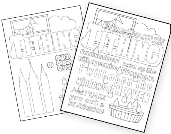 tithing coloring pages - photo#9