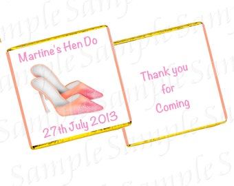 Personalised Birthday/Hen Party Chocolates  - Shoe Design - Any Age