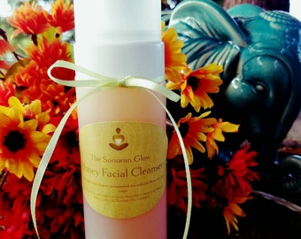 Honey Facial Cleanser/Organic Face Wash/ Raw Honey Cleanser/ Homemade Face Wash/ Natural Face Wash/ Natural Skincare/ Foaming Cleanser/