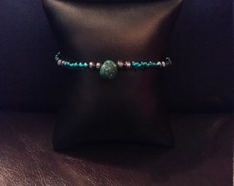 Turquoise and glass beaded bracelet now on sale.  Was 12.95 now 11.50