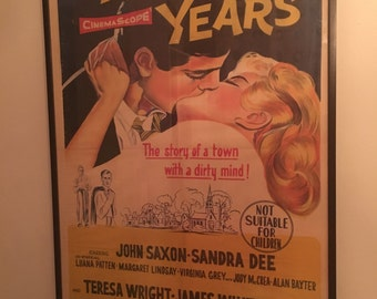 Vintage Movie Poster Framed