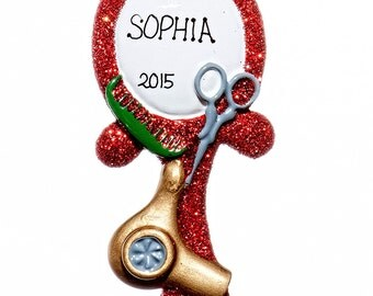 Personalized Ornament- Hairdresser Ornament- Free Gift Bag Included