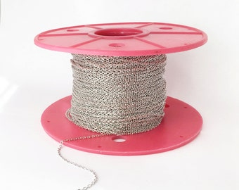10m cable chain, Necklace, Jewelry Supply, Craft Supplies, Mignon and Mignon Supply LCHN-S