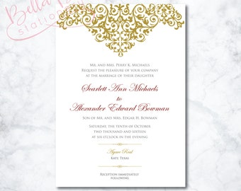 Scarlett Wedding Invitation Design