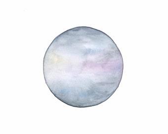 Hazy Sky, DIGITAL DOWNLOAD, Hazy Skies, Watercolour Painting, Night Sky Painting, Night Watercolour Art, Sunset Sky Painting
