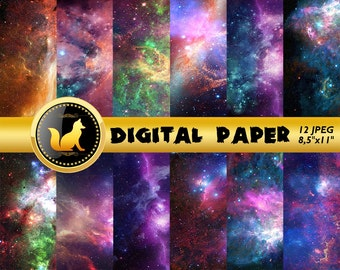 Space Scrapbook Paper,Space Stars Galaxy Paper,Space Stars Background,Space Stars Backdrop,digital paper,Stars scrapbook paper,Space paper