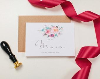 To My Mam  - Wedding Day Card