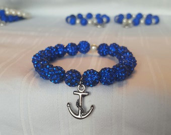 Anchor blue bracelet