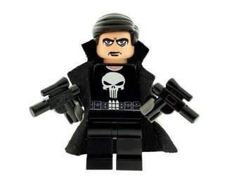 Custom Design Minifigure - The Punisher Printed On LEGO Parts