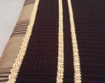 hand-crocheted throw