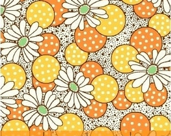CLEARANCE - Windham Fabrics - Polka Dot Flower in Yellow - Feedsack Collection by Whistler Studios - 1930's Reproduction Fabric