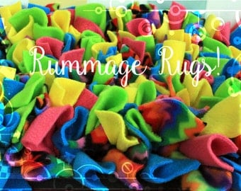 Rummage Rugs - Snuffle Mat Style Nose Work Dog Toy - Various sizes - Rooting Mat - Custom Colours!