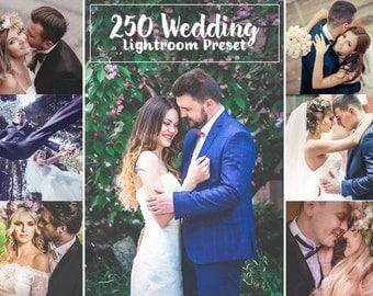 250 Wedding Lightroom Presets INSTANT DOWNLOAD for Wedding,Portrait,Fashion,Art,Product Photographs(Presets for Lightroom 4,5,6,CC)