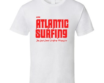 Vintage Surf T-shirt Atlantic Surfing Magazine 1966