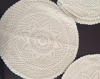 Crochet circle pillow cases