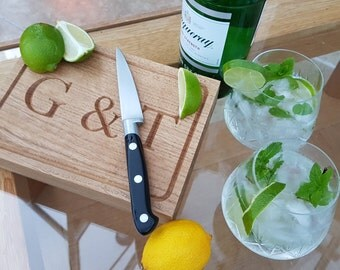 Gin and Tonic Board - in stunning hand crafted oak