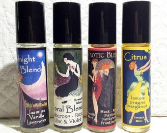Roll On Perfume Oils - Citrus Blend, Exotic Blend, Midnight Blend or Floral Blend