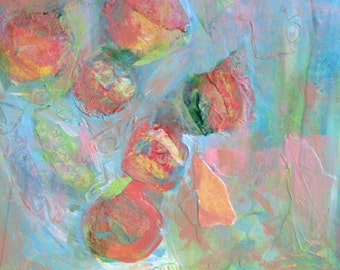 Original Contemporary Abstract Art - A Scent of Peaches