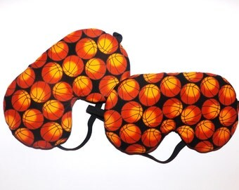 Set of  2 - Basketball Sleep Masks -  Reversible - Fits Kids to Adults