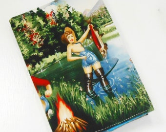 Weekly Academic Planner 2016-2017 / 18 Month Journal / Pin-up Forest Babes Calendar / Flatbound Student Agenda / Retro Cheesecake Organizer