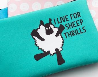 Zipper Bag, Fiber Art Geek, Live for Sheep Thrills