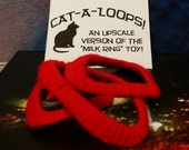 Cat-A-Loops Cat Toy Package of 3 Phunky Red Donuts Edition
