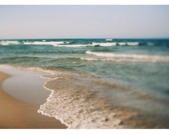 Beach  Photograph - Nature Photography - Landscape Photograph - Fresh Water - Summer - Lake - Fine Art Photograph - Great Lakes Photo - Blue