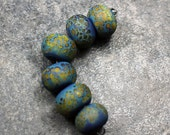 Carib - Handmade Lampwork Glass Round Beads - SRA Elasia - MTO