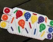 Rainbow Fiber Art, Multi-Colored Art, Partytime Balloons, Fiber art coaster, Rainbow mugrug