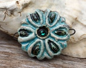 Handmade RAKU Connector Bead