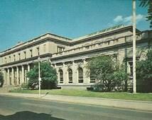 Vintage 1950s Postcard New York Schenectady USPS Post Office Snail Mail City Hall Building Architecture Photochrome Era Postally Unused