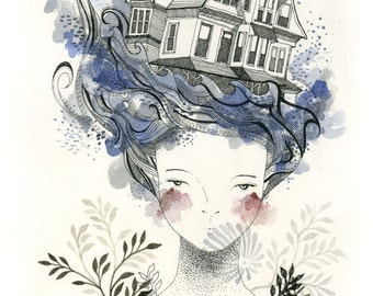 House by the Sea - Print