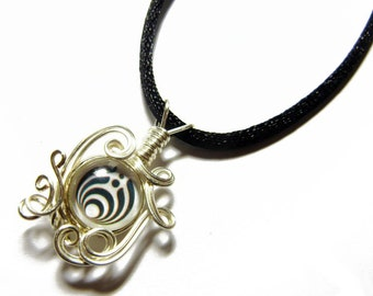 Wire Wrap Handmade Bass Nectar Pendant with Necklace