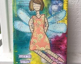 Sweet Fairy Girl Canvas