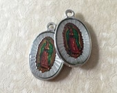 2pcs HOLOGRAPHIC GUADALUPE MEDALS Double Sided Beautiful