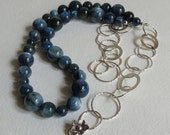 Amazing Kyanite Necklace with Sterling Silver Chain, Statteam