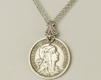 Portugal Coin Necklace 1959