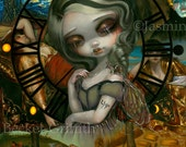 Unseelie Court: Sloth dark fairy art print by Jasmine Becket-Griffith 8x10 7 seven deadly sins lazy sleeping van gogh starry night bruegel