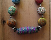 """18"""" Stacker Supreme Polymer Clay Beaded Necklace"""