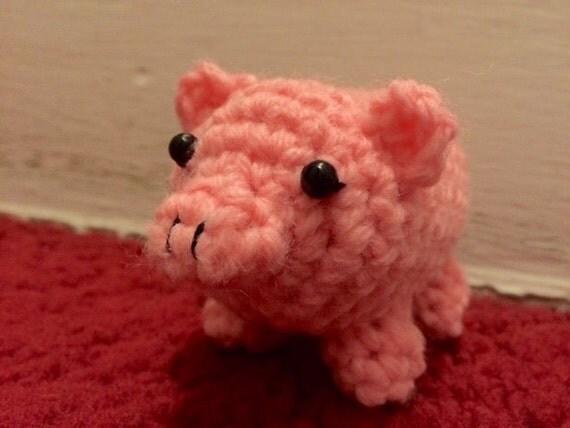 Little Crochet Plush Pig